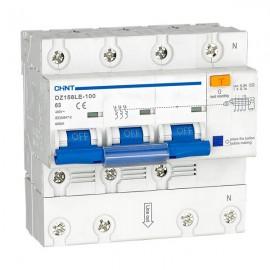 Дефектнотокова защита CHINT DZ158LE, 80A 300mA, 3P+N, 6kA
