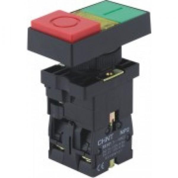 Пуск-Стоп бутон пластмасов CHINT NP2-EW8465, с LED индикация 230V/AC, 1NО+1НC контакт