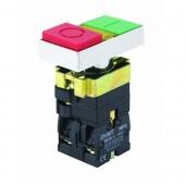 Пуск-Стоп бутон метален CHINT NP2-BW8465, с LED индикация 230V/AC, 1NО+1NC контакт