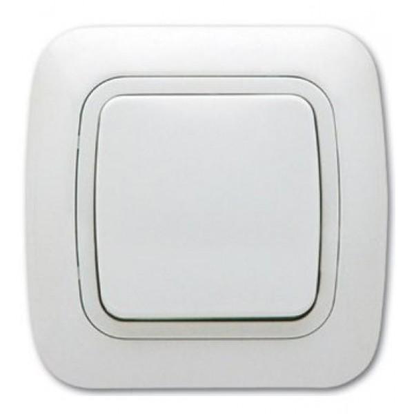 Ключ за осветление еднополюсен сх.1, бял, Gokku