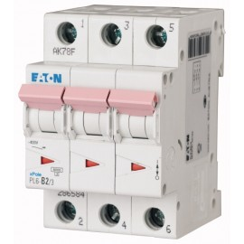 Предпазител автоматичен Eaton PL6-C2, 2A, 3P, 6kA