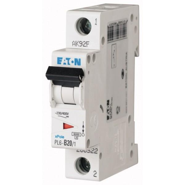 Предпазител автоматичен Eaton PL6-C20, 20A, 1P, 6kA