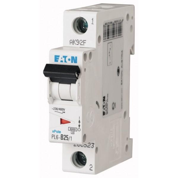 Предпазител автоматичен Eaton PL6-C25, 25A, 1P, 6kA