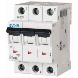 Предпазител автоматичен Eaton PL6-C40, 40A, 3P, 6kA