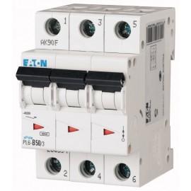 Предпазител автоматичен Eaton PL6-C50, 50A, 3P, 6kA