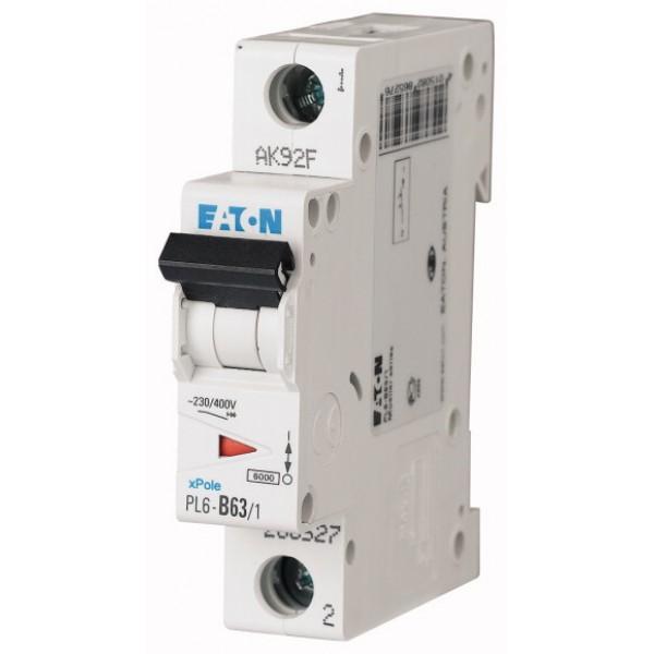 Предпазител автоматичен Eaton PL6-C63, 63A, 1P, 6kA