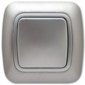 Ключ за осветление еднополюсен сх.1, сив металик, Gokku