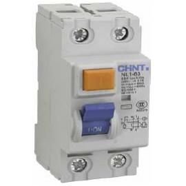 Дефектнотокова защита CHINT без предпазител NL1-63, 63A 30mA, 2P, 6kA