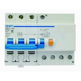 Дефектнотокова защита CHINT с предпазител NB1L-40, 16A 30mA, 3P+N, 6kA