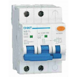 Дефектнотокова защита CHINT с предпазител NB1L-40, 32A 30mA, 1P+N, 6kA