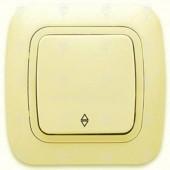 Ключ за осветление девиаторен, сх.6, крем, Gokku