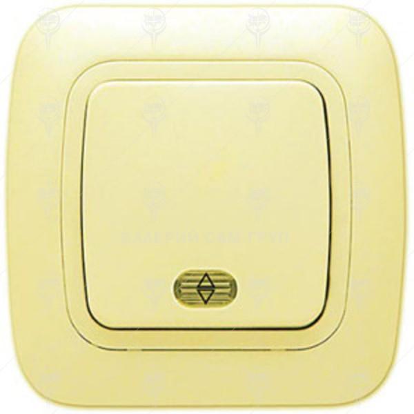 Ключ за осветление девиаторен, сх.6, крем, светещ, Gokku