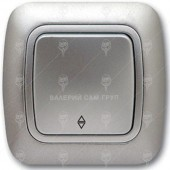 Ключ за осветление девиаторен, сх.6, сив металик, Gokku