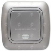 Ключ за осветление еднополюсен сх.1, сив металик, светещ, Gokku