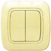 Ключ за осветление сериен, сх.5, крем, Gokku
