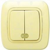 Ключ за осветление сериен, сх.5, крем, светещ, Gokku