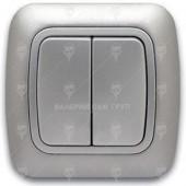 Ключ за осветление сериен, сх.5, сив металик, Gokku