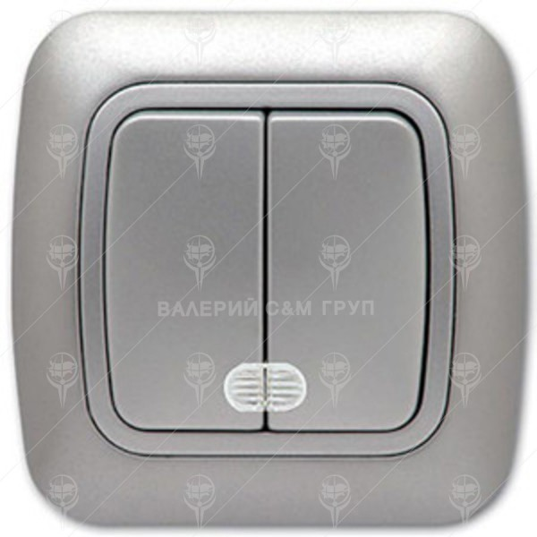 Ключ за осветление сериен, сх.5, сив металик, светещ, Gokku