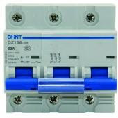 Предпазител автоматичен CHINT  DZ158, 80A, 3P, 6kA