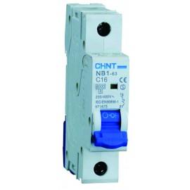 Предпазител автоматичен CHINT NB1-C16, 16A, 1P, 6kA