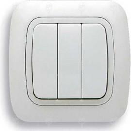 Ключ за осветление троен, бял, Gokku
