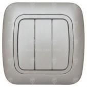 Ключ за осветление троен, сив металик, Gokku