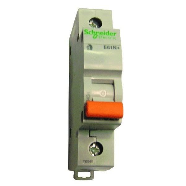Предпазител автоматичен Шнайдер - Schneider Electric E60N+, 1P, C16, 16A, 400V, 6kA