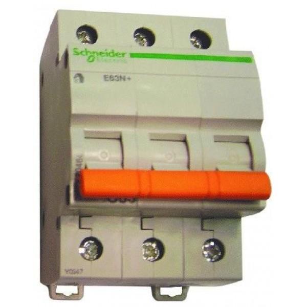 Предпазител автоматичен Шнайдер - Schneider Electric E63N+, 3P, C20, 20A, 400V, 6kA