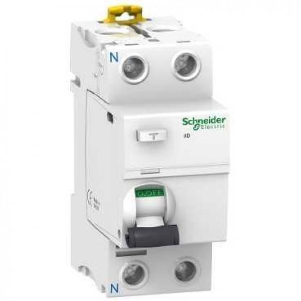 Дефектнотокова защита Шнайдер - Schneider Electric iID, 2P, 25A, 300mA, клас AC