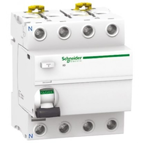 Дефектнотокова защита Шнайдер - Schneider Electric iID, 4P, 25A, 30mA, клас AC