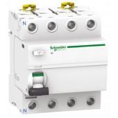 Дефектнотокова защита Шнайдер - Schneider Electric iID, 4P, 63A, 30mA, клас AC