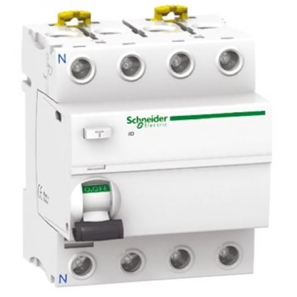Дефектнотокова защита Шнайдер - Schneider Electric iID, 4P, 63A, 300mA-S ASI
