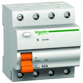 Дефектнотокова защита Шнайдер - Schneider Electric Domae ID, 4P, 63A, 300mA, клас AC