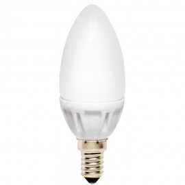 LED лампа 3.5W E14 220V B35, матирана, WW 3000K