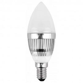 LED лампа 3x1W E14 220V B35, матирана, CW 6000K
