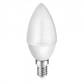 LED лампа Plastic 4W E14 220V B35, матирана, WW 3000K