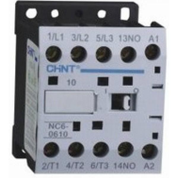 Контактор CHINT NC6-0610, 6A, боб. 220V 50/60Hz